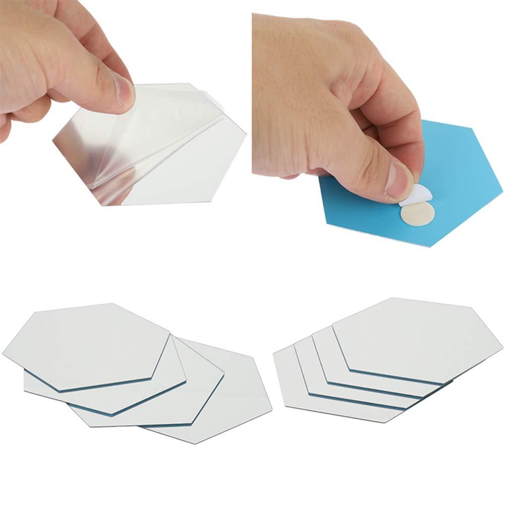 Adesivi da Parete a Specchio plastica Auidy/_6TXD Decorazione Fai da Te Blu 100MM*85MM*50MM per la casa e la casa