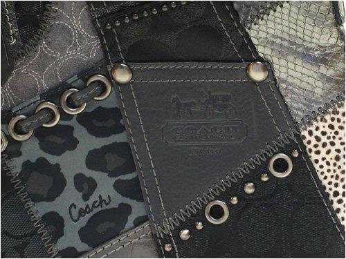 Amazon.com: Coach mosaico Swingpack en negro/metálico 42070 ...