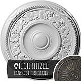 Ekena Millwork CM16TYWHC Tyrone Ceiling Medallion, Witch Hazel Crackle