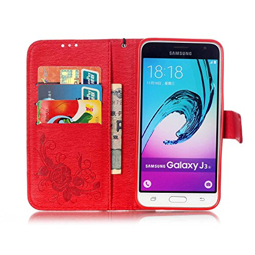 SRY-Funda móvil Samsung Funda Samsung J310, Caja de resina con diamantes de imitación en relieve Flores Caja de mariposa con tapa para Samsung Galaxy J310 ( Color : 6 , Size : J310 ) 1