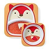 Skip Hop Baby Plate and Bowl Set, Melamine, Fox