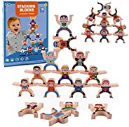YYDS Stacking Toy Wooden Stacking Game, Hercules Balance Stack High Toy Blocks Game, Development Toys Puzzle G