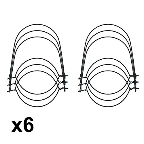 Black Stainless Steel Wire Handles for Mason, Ball,Canning Jars (6 Pack, Wide Mouth)