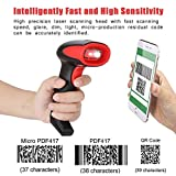 ASHATA Barcode Scanner, Wired Handheld USB Bar QR