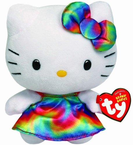 ty Beanie Babies 비니 베이비의 Hello Kitty Plush 레인보우