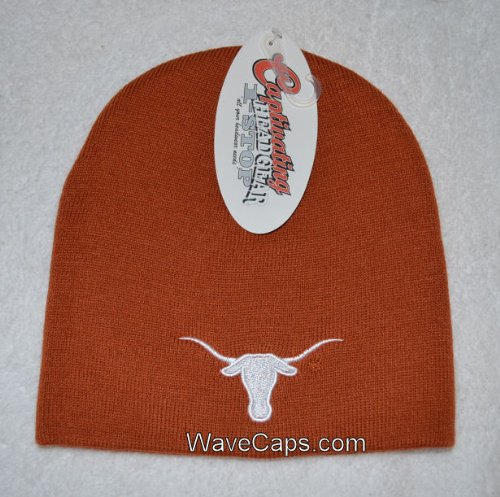 Texas Longhorns Beanie - Top of the World Texas Longhorns Burnt Orange Easy Does It Knit Beanie