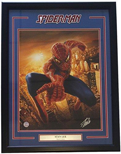 Stan Lee Marvel Comics Signed Framed 16x20 Spiderman Metallic Photo Lee Holo