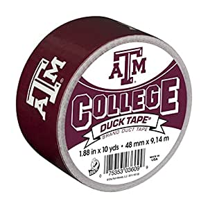 Duck Brand 240294 Texas A&M University College Logo Duct Tape, 1.88-Inch by 10 Yards, Single Roll