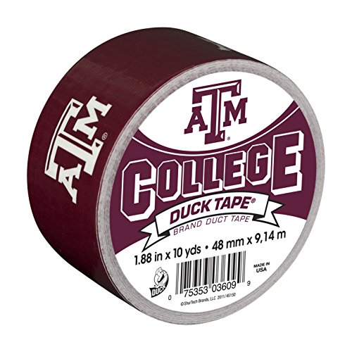 (Duck Brand 240294 Texas A&M University College Logo Duct Tape, 1.88-Inch by 10 Yards, Single Roll)