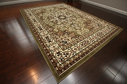 3' Sage Green (Generations New Oriental Traditional Isfahan Persian Area Rug, 2' x 3', Sage Green)