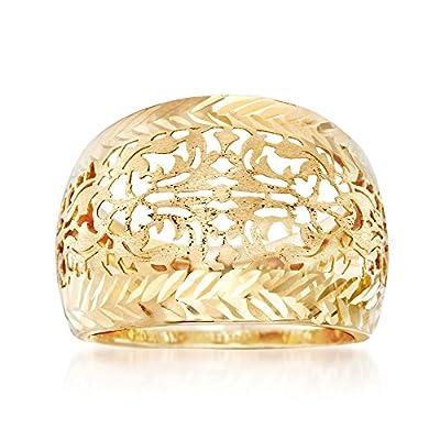 Ross-Simons Italian 14kt Yellow Gold Filigree Dome Ring by Ross-Simons