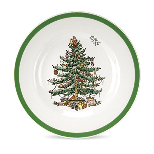 Spode Christmas Tree Bread and Butter Plate, Set of 4 -