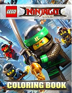 The LEGO NINJAGO Movie Coloring Book For Kids Activity Exclusive High