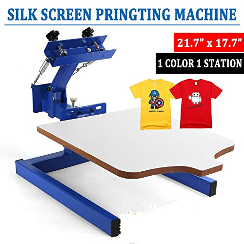 Happybuy Screen Printing Machine Press 1 Color 1 Station Silk Screen Printing Machine Adjustable Double Spring Devices(1 Color 1 Station) by Happybuy