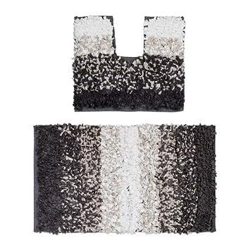 Wenko 22343100 Tapis de Contour WC Polyester Taupe 50 x 5 x 5 cm