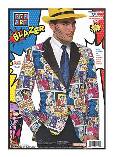 Pop Art Halloween Look (Forum Novelties Comic Book Blazer Adult Costume)