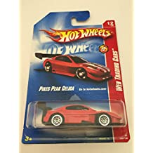 Hot Wheels Pikes Peak {Toyota} Celica, Red, Lace Wheels, White Twins Down Top-Side #12 2008 1/64