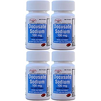 Amazon Com Docusate Sodium 100 Mg Softgels For Gentle