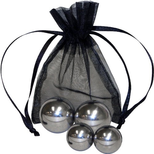 Optisex 4 Solid Stainless Steel Ben Wa Balls with Bag, Small/Medium, 0.2 Pound