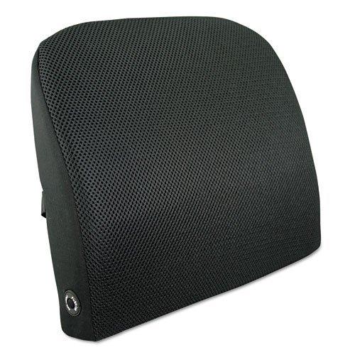 Foam Advantus (Advantus 602804MH05 Memory Foam Massage Lumbar Cushion, 12-3/4w x 3-1/2d x 12-1/2h, Black by Advantus)
