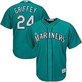 24 Ken Griffey Jr. Jersey Seattle Jerseys Baseball Jersey Mens Green Size XL