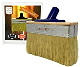 Deck Stain Brush Applicator by Foxtrot - Fast Application for Stain, Paint and Sealers - Professional Grade - 7 Inch Brush Head