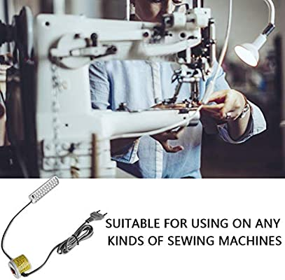 akozon Máquina de coser LED de luz, cuello de cisne ajustable de ...
