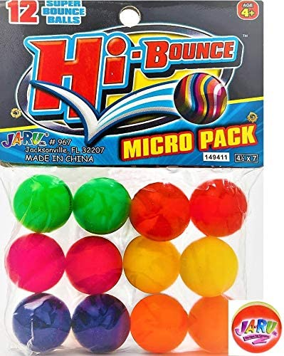 6 PACK Marble hi-bounce ball party bag favor stocking filler childrens