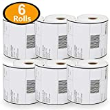 "6 Rolls Dymo 1744907 Compatible 4XL Internet Postage Extra-Large 4"" x 6"" Shipping Labels,Strong Permanent Adhesive, Perforated"