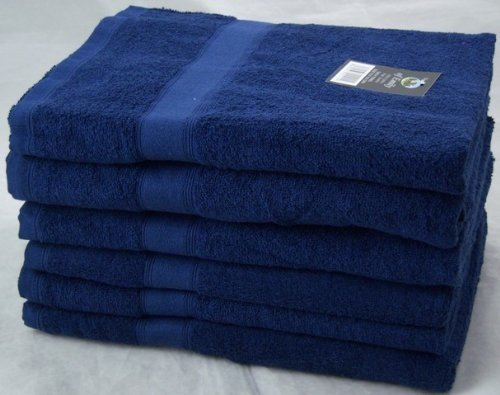 Pack of 6 NAVY BLUE 450 GSM 100% Cotton Hand Towels Set