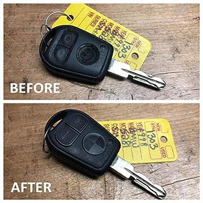 HelloAuto for BMW Key Replacement Button Pad Smart Remote Key Fob Shell Case Cover Pad for BMW 318i 323i 525i 528i 530i 535i 540i 735i 740i 740iL Z3: Automotive