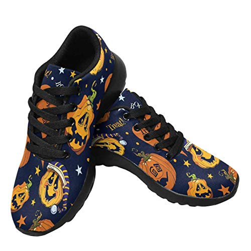 InterestPrint Womens Running Jogging Shoes Athletic Sneakers Gym Workout Walking US7 Pumpkins Halloween -