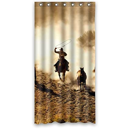 Small 36quotx72quot Inches Cool Wild West Cowboy Shower Curtain Rings