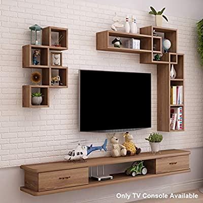 Estante Estante flotante Mueble para TV montado en la pared Fondo ...