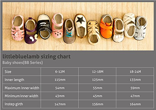 Little Blue Lamb Chaussures souples bébé Booties Bottes 21005Marron 18–24mois