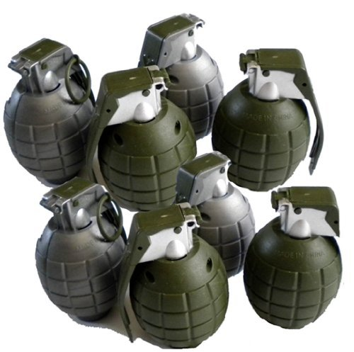 Lot of 8 Kids Toy B/o Grenades for Pretend Play by Army