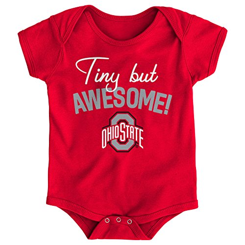 - Gen 2 NCAA Ohio State Buckeyes Newborn & Infant Awesome Script Bodysuit, 24 Months, Red