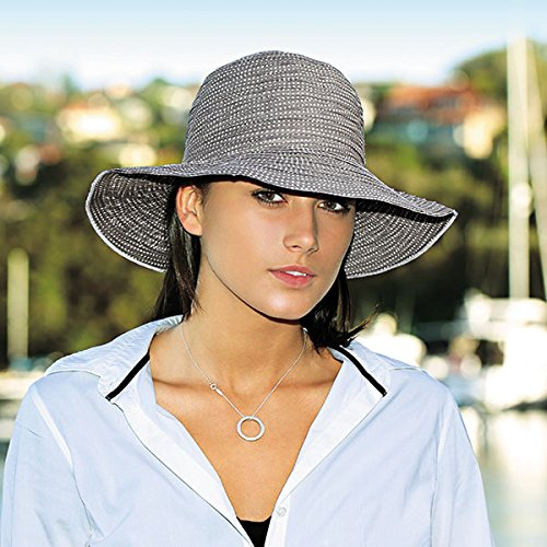 Wallaroo Hat Company Womens Petite Scrunchie Sun Hat - UPF 50+ - Crushable, Made for Small Heads
