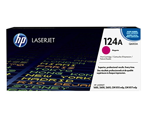 HP 124A (Q6003A) Magenta Original Toner Cartridge (Q6003a Magenta Cartridge Laser)