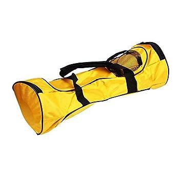 GDRAVEN 6.5 Hoverboard - Bolsa de Transporte para monopatín, Resistente al Agua, con Dos Ruedas, portátil, para Adultos, Color Negro, Amarillo: Amazon.es: ...