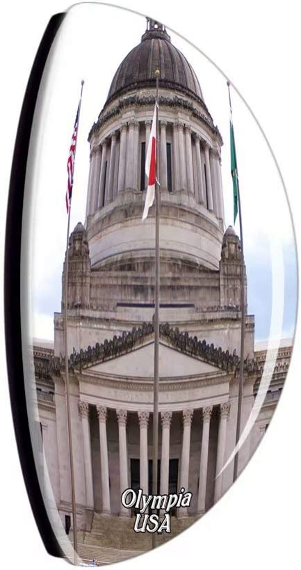 Weekino USA America Olympia Capitol Fridge Magnet Travel Souvenir City Collection 3D Crystal Glass Gift Strong Refrigerator Sticker