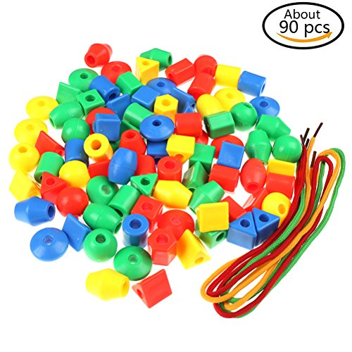 Yiphates Handmade DIY Beads Set Accessories Toys Arts Jewelry Making Kits for Children's DIY Bracelets Necklace,Education Toys, gifts for children Set of 90