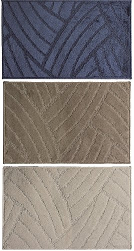 Tappeti tappeto bagno zerbino roma 57x95 vari colori fango, bianco ...