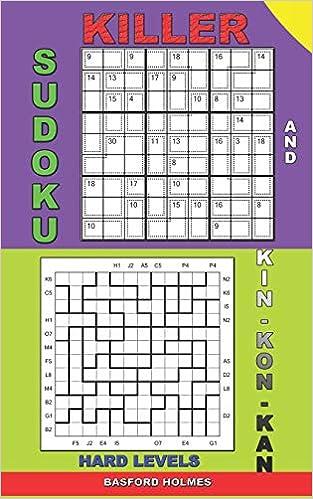 Killer sudoku and Kin-kon-kan hard levels : Puzzles Sudoku