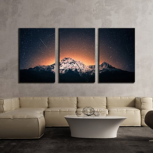 Snow Mountain under Sea of Stars x3 Panels