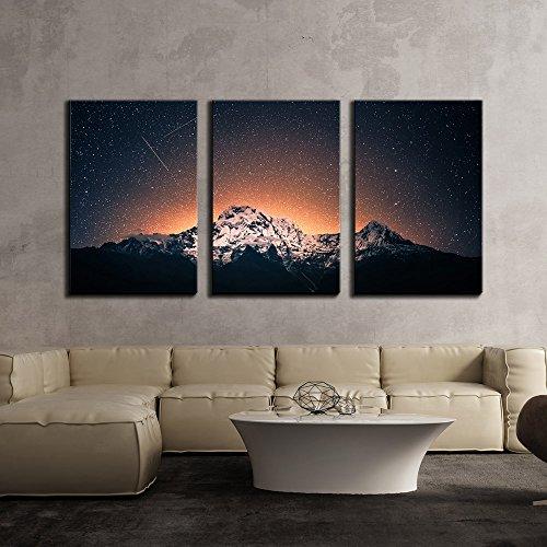 Snow Mountain Under Sea of Stars x3 Panels