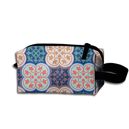 Dimensions Glass Tile Mosaics (Mosaic Art Portable Printed Travel Make Up Bag Storage Bag Capacity Portable Bags For Travel)