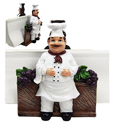 Atlantic Collectibles Chef Alton Grape Wine Vineyard Dinner Napkin Holder Figurine Tabletop (Grape Holder)