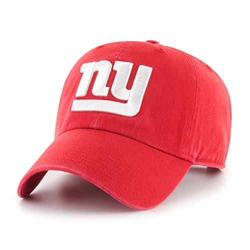 New Visor Logo Giants York - NFL New York Giants Male OTS Challenger Adjustable Hat, Red, One Size