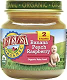 Earth's Best Strained Banana Peach Raspberry, 4 oz